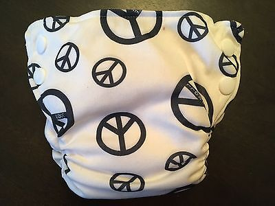 Bottombumpers Small AIO Diaper ~ Peace Signs