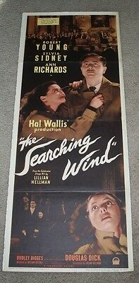 """THE SEARCHING WIND Original 1946 MOVIE POSTER INSERT 14"""" x 35"""""""