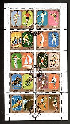Stamps World Used,  S/sheet From Sharjah # 3  In U.a.e.,  Must L@@k