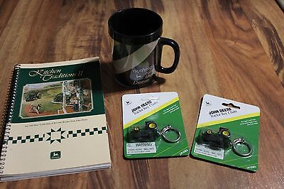 John Deere Cookbook Mug Key Chain Lot