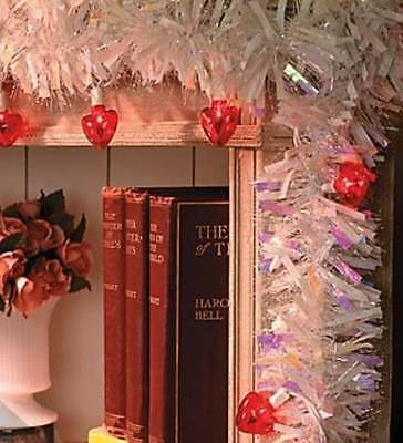 10 foot VALENTINE HEART LIGHTS GARLAND Indoor Outdoor ~ String them anywhere!