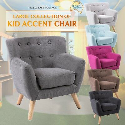 Kids Accent Chair Fabric Wooden Lorraine French Sofa Armchair Lounge Retro Tub