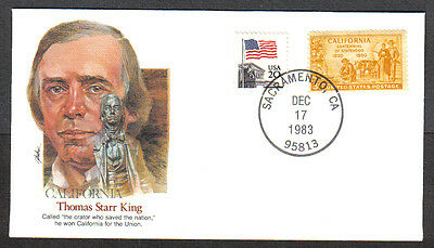Us Cover 1983 Thomas Starr King -Proudest Americans Fleetwood Cachet