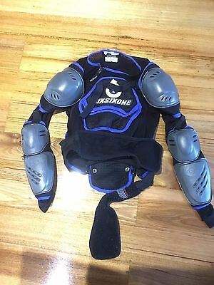 Sixonesix motorbike Chest Armour jacket with spine,shoulder arm elbow protectors
