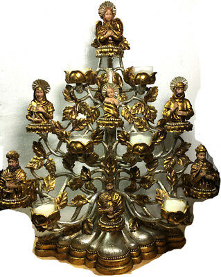 Department 56 NATIVITY Tree of Life Votive Creche Candelabra