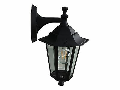 Pair Of LED Traditional Wall Mounted Coach Light Lamp Black. With Free LED Globe