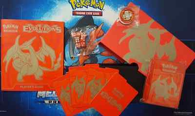 XY Evolutions ELITE TRAINER Mega Charizard Y Red: Box Content Sleeve Dice Book