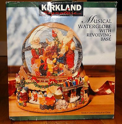 Kirkland Musical Waterglobe With Revolving Base Deck The Halls