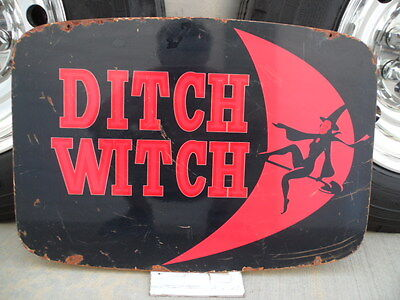 Ditch Witch OEM Original Steel Sign - Heavy Gauge Steel One Sided Artwork