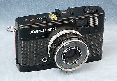 Black Olympus Trip 35 1967-1984 35Mm Film Point & Shoot Camera