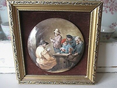 Lovely Hand-made English Ceramic Miniature - Staffordshire  Framed #1