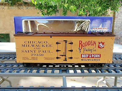Usa Train  (R-1698)  Rodden Packing Company  Wood Billboard Reefer