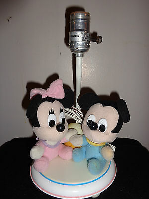 1984 Baby Mickey and Minnie Mouse Lamp  Walt Disney Dolly Toy Co.