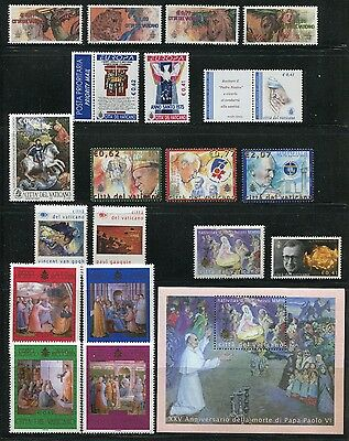 Vatican City 2003 Complete Year Set NH - Scott 1236-57