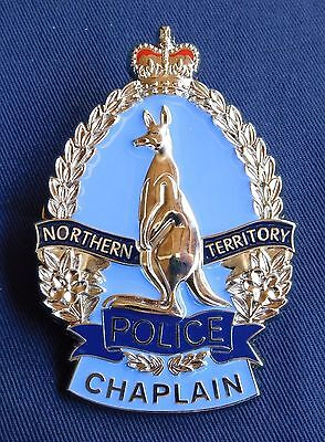 NT Police Chaplain obsolete replica badge Not Fire Rescue Emergency Medical