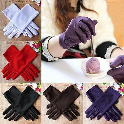 Hot Women Evening Party Wedding Formal Prom Stretch Dance Spandex Party Gloves