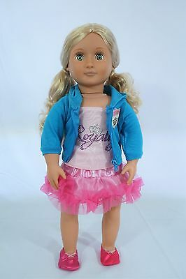 """our generation doll blond hair and green eyes 18"""""""