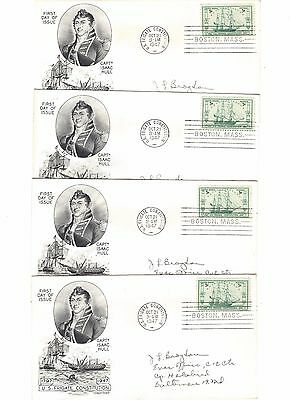#951 USS Constitution FDC - Lot of 4 (#26)