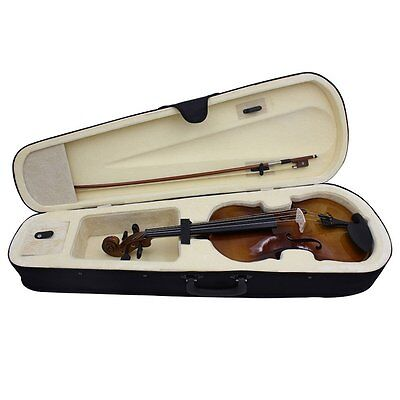 4/4 Full Size Natural Acoustic Wood Color Violin Fiddle with Case Bow Rosin UKAY