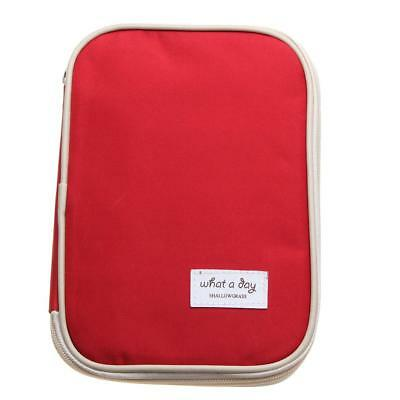 Travel Passport Credit Card Ticket Holder Document Organizer Bag Wallet Red