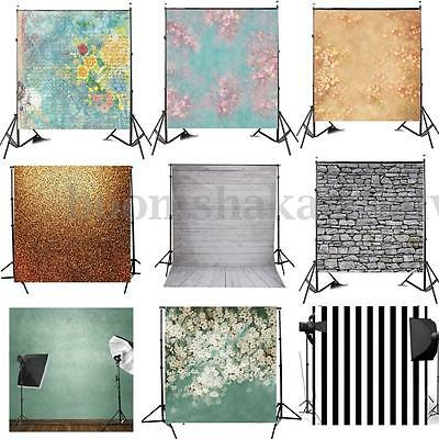 10 Type 8x8FT Wall Flower Vinyl Photo Backdrop Studio Photography Background New
