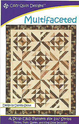 Quilt Pattern  ~ MULTIFACETED ~ by Cozy Quilt Designs