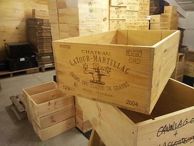 1 X Graded Genuine 12 Bottle Large Wooden Wine Crate Box Planter Hamper