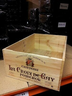 1 X Graded Genuine 12 Bottle Large Wooden Wine Crate Box Planter Tool Storage.