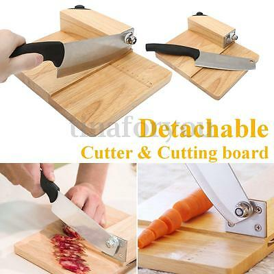 Stainless Steel Biltong Cutter & Jerky Slicer Blade with Oak Cutting Board 5.8""