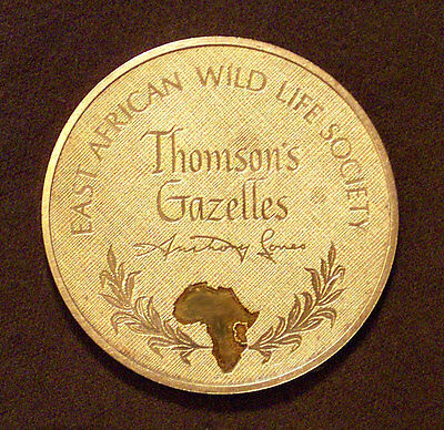 Thomson's Gazelles East African Wild Life Society Proof 1972 • 2oz Bronze medal