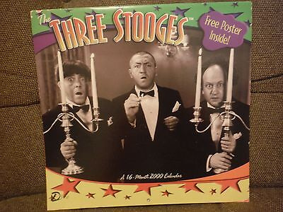 The Three Stooges 16-Month 2000 Calendar with free poster included