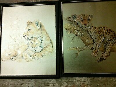 Maud. Fennel Framed Print s  of animals in Gold