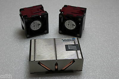 HP DL380p Gen8 Heatsink plus 2 x Fan 662522-001 654592-001 654577-002 662520-001