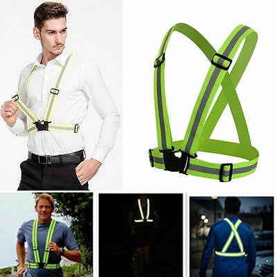 Adjustable Hi Vis High Viz Visibility Safety Security Waistcoat Reflective Vest