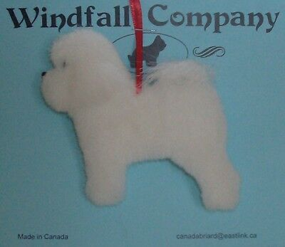 Bichon Frise Dog Soft Plush Christmas Canine Ornament by WC