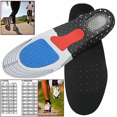Orthotic Unisex Arch Support Insoles Sport Comfort Shoe Shock Absorb Gel Heel