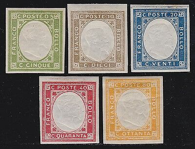 ITALY 1861 Neapolitan Provinces Issue 5v not issued / MH B809 F15
