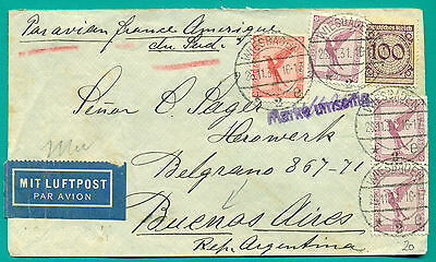 1931 Wiesbaden - Toulouse Aeropostale - Buenos Aires Argentina Air