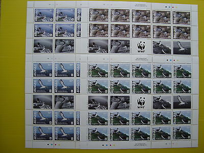 Wwf Aitutaki 2016, Chatham Albatross , 4 Minisheets 20 Stamps, Perforated, Mnh