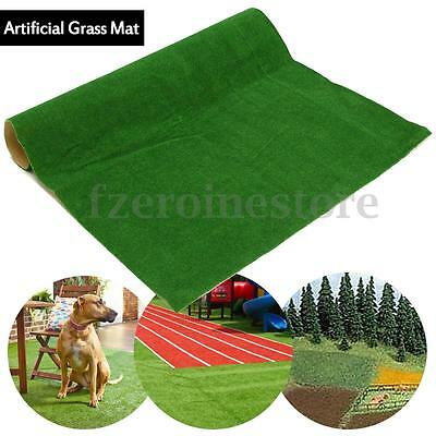 Artificial Grass Mat Green Dollhouse Railway Layout Pet Floor Carpet 50*50cm