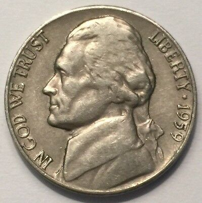 1959-D U.S.A Nickel 5 Cents coin