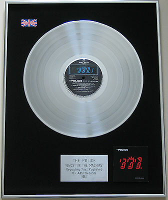 THE POLICE Ghost In The Machine PLATINUM LP Disc presentation