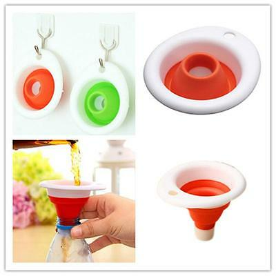 Silicone Gel Practical Collapsible Foldable Funnel Hopper Kitchen Tool OYAC FGH