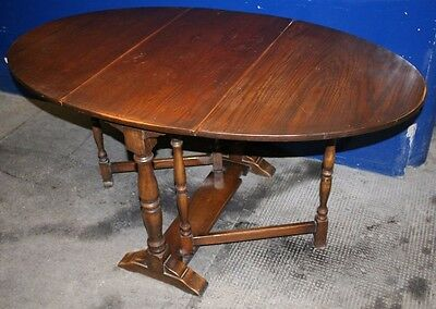 ~Lovely ~Antique ~Solid Oak ~Drop Leaf ~Gate Leg ~Oval Table ~ VGC~