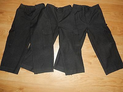 Bundle of 3 pairs of Boys Grey School Trousers Age 5 110cms