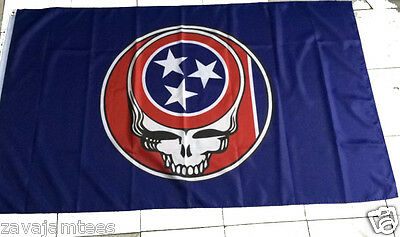Grateful Dead inspired Flag Tennessee State Vols Titan  Comp Steal your Face