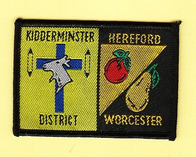 Boy Scout Double Badge KIDDERMINSTER DISTRICT/HEREFORD WORCESTER