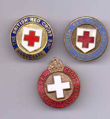 3 Red Cross Badges, all different