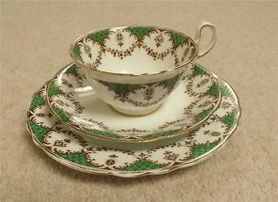 STUNNING ANTIQUE VICTORIAN BONE CHINA AYNSLEY TRIO CUP SAUCER PLATE c1890s
