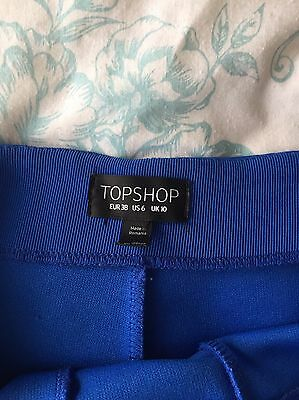 Topshop High Waisted Blue Shorts Size 10